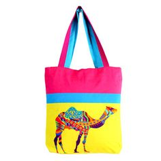 Camel Horse Tote Bag, so much colour, it hurts my eyes ;D