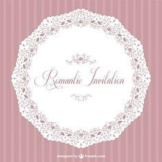Retro romantic vector invitation