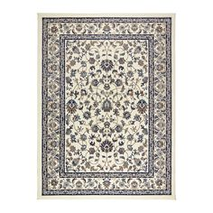 IKEA VALLÖBY Rug, low pile Beige/blue 170x230 cm Durable, stain resistant and easy to care for since the rug is made of synthetic fibres.