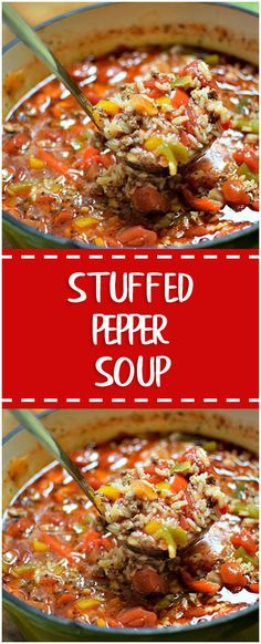 Stuffed Pepper Soup #stuffed #pepper #soup #whole30 #foodlover #homecooking #cooking #cookingtips