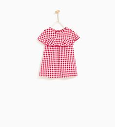 GINGHAM DRESS WITH FRILL-NEW IN-BABY GIRL | 3 months - 4 years-KIDS | ZARA United States