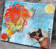 OOAK My Life Isn't Perfect - Mixed Media Canvas Art 8x10(Etsy のTheVelvetRobynより) https://www.etsy.com/jp/listing/221554378/ooak-my-life-isnt-perfect-mixed-media