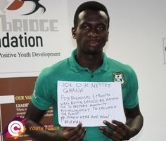 Meet Joe from Ghana who believes that mental well being is a top priority.  The Post-2015 Consensus youth forums are a platform for young people around the globe to express their top priorities for post-2015 development agenda! For more information visit www.post2015consensus.com/youth-forum