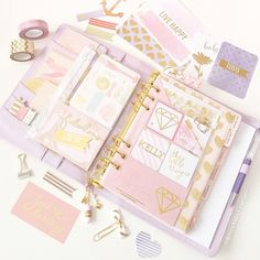 Pink and Purple Planner Design.