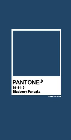 100 Pantone Color Palettes : Pantone Blueberry Pancake 19-4119 #pantone #color #darkblue #blue