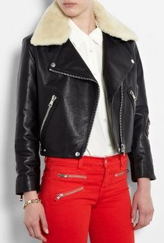 Black Rita Leather Jacket by Acne