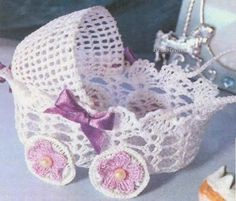 Beautiful Decorations In Crochet. Follows The Graph ~ Crochet Baby