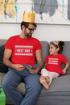 Daddy and me Christmas Shirts, Matching Daddy and me Shirts, Dad Daughter Christmas Shirts, Best Dad Best Daughter Christmas T-shirts Toddler Size Chart, Size Chart For Kids, Father And Son, Gifts For Father, First Fathers Day, Gifts For New Dads, Dad Gifts, Birthday Present Dad, Daddy Birthday