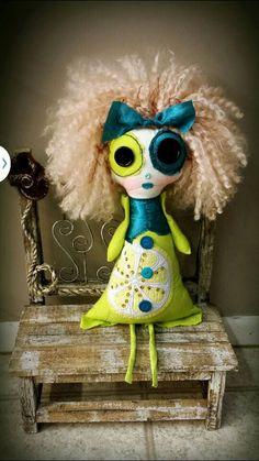One of a kind handmade vintage art doll