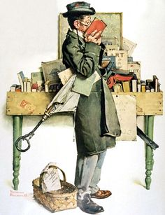 Reading Book, Norman Rockwell