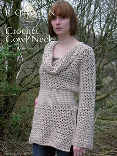 Crochet Cowl Neck - free sweater pattern from Rowan:  http://www.knitrowan.com/files/patterns/Crochet_Cowl_Neck.pdf