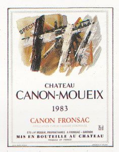 Chateau Canon Moueix 1983 French Wine Label