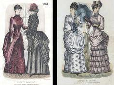 En el s. XIX los vestidos comenzaban a mostrar los tobillos.