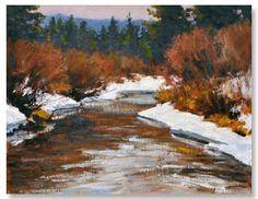 """Winter Stream Mood"" by Lorenzo Chavez"