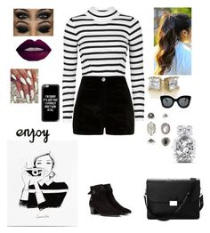 """""""Enjoy """" by tiffany-london-1 ❤ liked on Polyvore featuring Topshop, River Island, Yves Saint Laurent, Aspinal of London, CÉLINE, Casetify, Victoria's Secret and Garance Doré"""