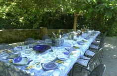 al fresco dining, Villa Michaela, Tuscany