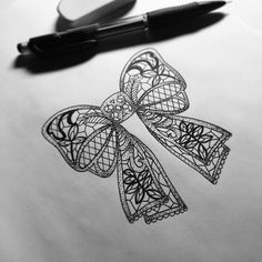 My lace bow tattoo design for a tattoo...