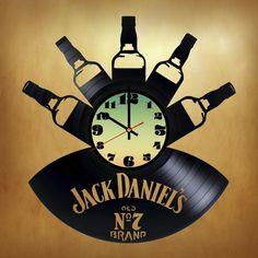 Jack Daniel's OLD №7 Handmade Vinyl Record Wall Clock - VINYL CLOCKS