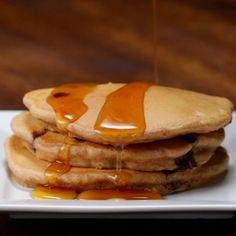 Featuring Chocolate Peanut Butter Pancakes, Banana Pancakes, Cinnamon Roll Pancakes and Blueberry Pancakes Yummy Pancake Recipe, Tasty Pancakes, Breakfast Pancakes, Banana Pancakes, Breakfast Recipes, Pancake Recipes, Dinner Recipes, Peanut Butter Pancakes, Cinnamon Roll Pancakes