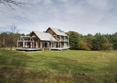 Passive House Farmstead - Vermont — ZeroEnergy Design - Boston Green Home Architect Passive House Design, Prefab Buildings, Green House Design, Energy Efficient Homes, Building Systems, Solar House, Timber Frame Homes, Sustainable Architecture, Sustainable Design