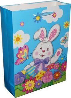 RZOnlinehandel - Oster-Geschenkstasche Hase Gr. Lunch Box, Bunny, Basket, Packaging, Easter Activities, Gifts, Bento Box