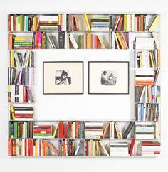 Krossing by @kriptoniteitaly  wall-mounted sectional aluminium bookcase design Roberto De Sabato