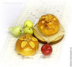 Курник русский пирог каравай кукольная миниатюра - Чудеса в ладошке (Акинина Марина)