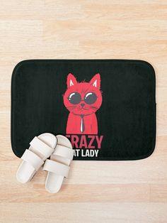 Crazy cat lady Bath Mat