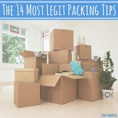 If you've ever moved, you understand how difficult packing all of your stuff up can be. Use these 14 packing tips to make your life easier. Moving House Tips, Moving Home, Moving Day, Moving Tips, Moving Hacks, Organizing For A Move, Moving Checklist, Packing To Move, Selling Your House