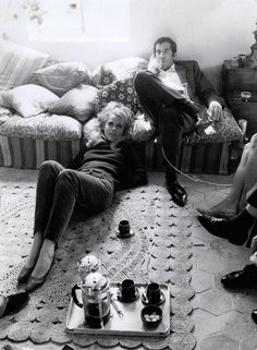 Old Love - Jane Fonda at home with first husband Roger Vadim, 1967 Jane Seymour, Francois Truffaut, Dennis Hopper, Star Actress, Barbarella, Cinema, Vida Real, Old Love, Vintage Hollywood