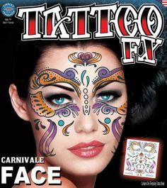 64845aba7 Carnivale face tattoo kit by Tinsley Transfers temporary tattoos. #t4aw  #tattooforaweek #temporarytattoos