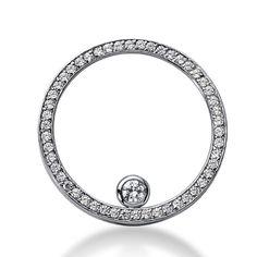 Diamantring / Diamantarmband / Diamantschmuck: Diamanten Kreisanhänger 1.00 Karat aus 585er Weißg...