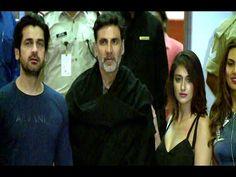 RUSTOM starcast Akshay Kumar, Ileana D'cruz, Esha Gupta spotted at Mumbai airport.