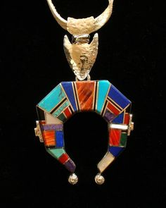 Naja Pendant W/ Multicolored Inlay Work