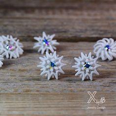 Snowflake Earrings #icecrystalEarrings #snowflakeearrings #whitechrisman #xmasearring #weihnachtsschmuck #schneeflocken