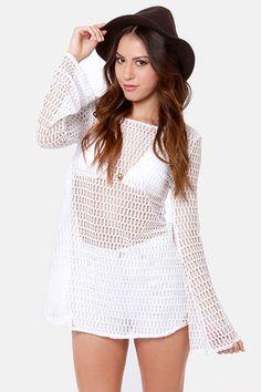 Roxy Sweet Terrain White Mesh Coverup, Lulus.com $48