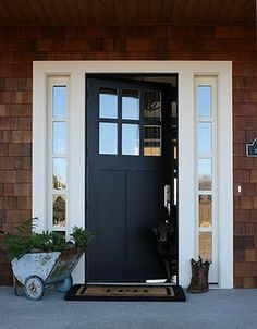 Front door option with cedar shake siding