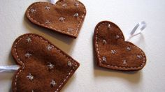 Cookie Heart Pattern Felt Christmas Decorations  by FudgeandPoppy, £5.00