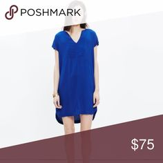 "Madewell Du Jour Tunic Dress Blue Madewell Du Jour Tunic Dress.  Size XXS and NWT.  Runs slightly large. Viscose material gives it a lovely drape and minimal wrinkles.  Falls 36"" from shoulder to Hem. Madewell Dresses Mini"
