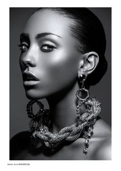 Molten Jewel - Photographed by Charlotte Kibbles   Stylist Charleen Campbell  Model Rio / Models 1  Makeup & Hair Margo Holder