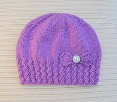 """Related Posts:Knitting Pattern Baby Hat Baby Hat Baby Girl Pattern…Knitted pattern, Tricot pattern, PDF, Cody CAT SET /…What a lovely """"Critter"""" little hat /…Baby hat with knitted eyeletsQuick-knit baby jacket, hat and matching pants. Baby Hat Knitting Patterns Free, Baby Hat Patterns, Crochet Vest Pattern, Baby Hats Knitting, Knitting Stitches, Free Knitting, Knitted Hats, Crochet Patterns, How To Purl Knit"""