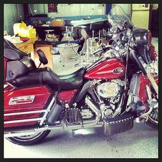 Red Hog, Harley Davidson Similar to the bike we had