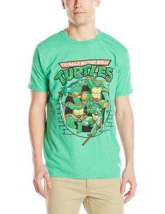 Men's Tmnt Group T-Shirt, Kelly Heather, Large