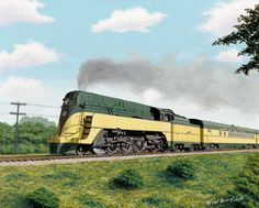 This streamliner, photographed by Jack Delano in could be a Diesel Era icon like its famous brethren. The locomotive belongs… Diesel Locomotive, Steam Locomotive, Diesel Punk, Time Travel Machine, Train Illustration, Train Posters, Railroad Pictures, North Western, Train Art