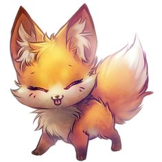Sho kawaii ♥ ♥ ♥ a chibi fox desuu Kawaii Drawings, Cute Drawings, Cute Fox Drawing, Chibi Drawing, Cute Animal Drawings Kawaii, Drawing Drawing, Pencil Drawings, Anime Chibi, Kawaii Anime