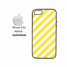 Yellow Stripes iPhone 5/5s HYBRID Case Cover
