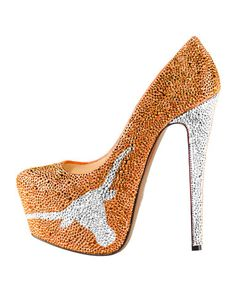 I probably wouldn't wear them but have them as decoration. 2013-14 Limited Edition Texas Longhorns Crystal Pumps