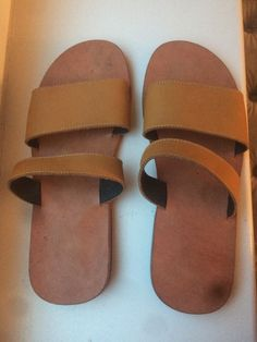 6a7cea592b9539 Yaly Custom Made Womens  GENUINE Leather Slip-On Sandals Women US Size 7  1 2  fashion  clothing  shoes  accessories  womensshoes  flats (ebay link)