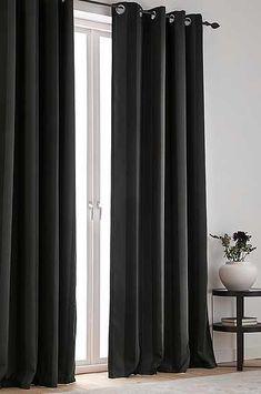 Gardiner – Rama in dina fönster och förändra ditt hem – Jotex Large Window Curtains, Black Curtains, Curtains Living, Large Windows, Twilight, Living Room, Home Decor, Houses, Shades Blinds