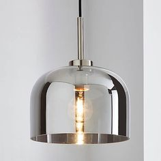Palazzo Smoked Glass Pendant Ceiling Fitting | Dunelm Hallway Ceiling Lights, Hallway Light Fixtures, Hallway Lighting, Ceiling Lamps, Glass Ceiling, Kitchen Lighting, Modern Pendant Light, Glass Pendant Light, Glass Pendants